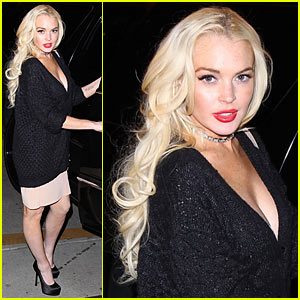 Lindsay Lohan: J. Edgar After-Party!