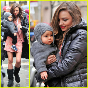 Miranda Kerr Takes Flynn to a Photo Shoot