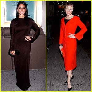 Olivia Munn & Renee Zellweger: 'Other Desert Cities' Theatre Duo
