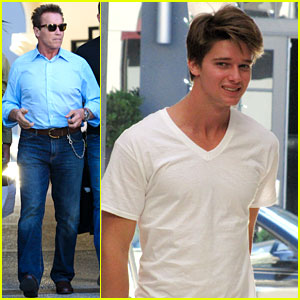 Patrick Schwarzenegger Haircut With Dad Amp Christopher