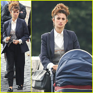 Penelope Cruz: Stroller Push for 'Venuto al Mondo'
