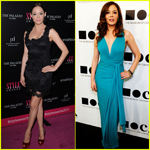 Rose McGowan Hits Up the Hollywood Style Awards!