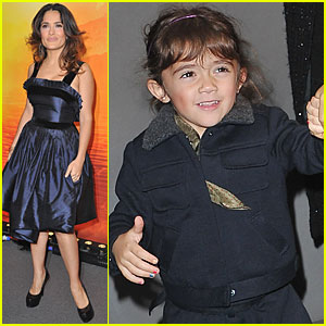 Salma Hayek: Paris Premiere with Valentina!
