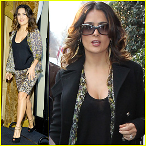 Salma Hayek: 'Puss In Boots' Press Conference in Paris!