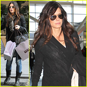 Sandra Bullock Jets from JFK