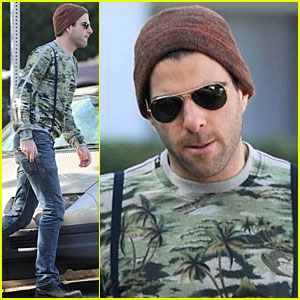 Zachary Quinto: Suspenders in Silverlake