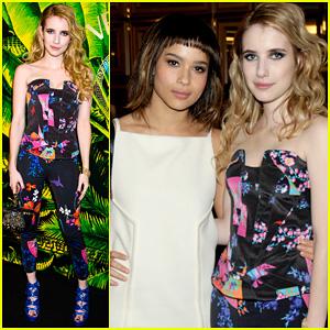 Zoe Kravitz & Emma Roberts: Versace for H&M Launch Party!