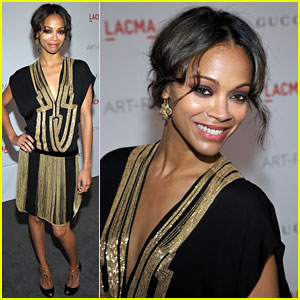 Zoe Saldana Attends LACMA Gala Honoring Clint Eastwood