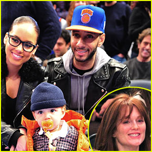 Alicia Keys &#038; Julianne Moore: Knicks Game on Christmas!