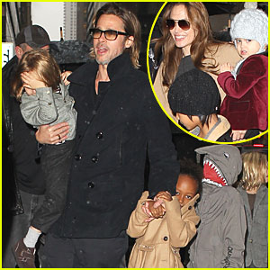 Angelina Jolie & Brad Pitt: Family Trip to FAO Schwarz!