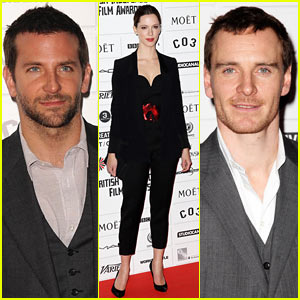Bradley Cooper & Michael Fassbender: British Film Award Fellows!