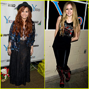 Demi Lovato &#038; Avril Lavigne: Y100 Jingle Ball!