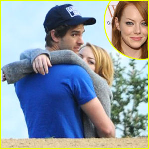 Emma Stone &#038; Andrew Garfield: Sunset Embrace!