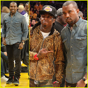 Kanye West: Lakers Game with Lil Wayne!