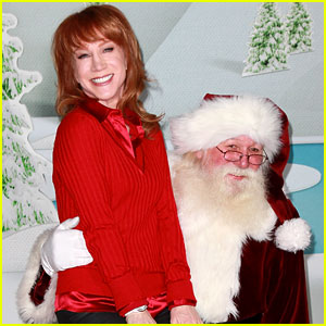Kathy Griffin Sits On Santa's Lap!