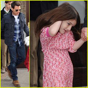 Tom Cruise & Suri: Chelsea Piers Pair!