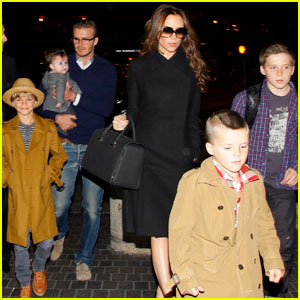 David &#038; Victoria Beckham Leave L.A. With the Family