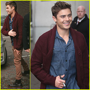 Zac Efron: ITV Studios in London!