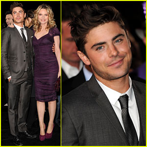 Zac Efron: 'New Year's Eve' Premiere with Michelle Pfeiffer!