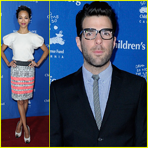Zoe Saldana: Children's Defense Fund with Zachary Quinto!