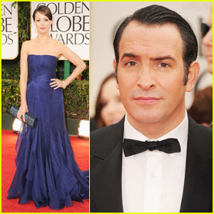 Berenice Bejo & Jean Dujardin - Golden Globes 2012 Red Carpet