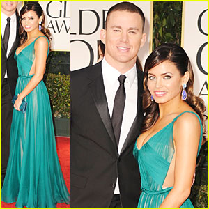 Channing Tatum & Jenna Dewan - Golden Globes 2012 Red Carpet