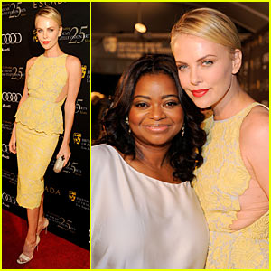 Charlize Theron: BAFTA Tea with Octavia Spencer!