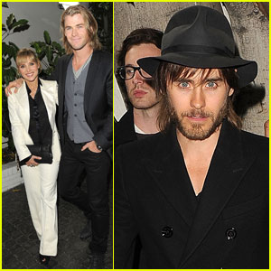Jared Leto & Chris Hemsworth: 'W' Magazine Party!