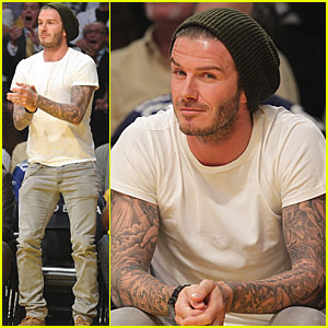 David Beckham: Courtside at the Lakers Game!