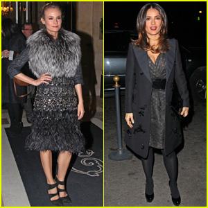 Diane Kruger & Salma Hayek: Giambattista Valli Fashion Show!