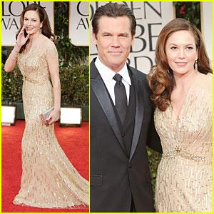 Josh Brolin & Diane Lane - Golden Globes 2012 Red Carpet