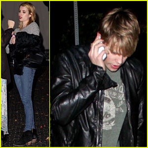 Emma Roberts & Chord Overstreet: Date Night!