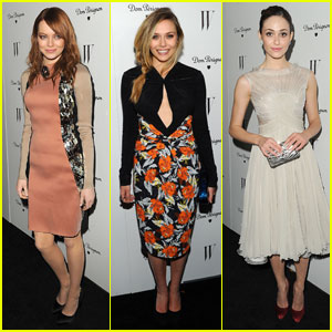 Emma Stone & Elizabeth Olsen Party Before the Globes