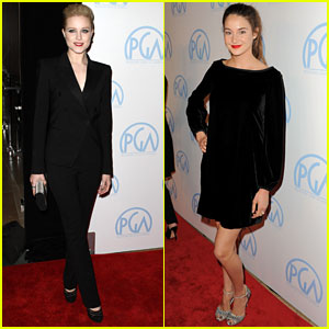 Evan Rachel Wood &#038; Shailene Woodley: Producers Guild Awards!