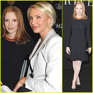 Jessica Chastain: Armani Prive Show with Cameron Diaz!
