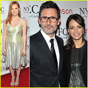Jessica Chastain & Berenice Bejo: Critics Circle Award Cuties!