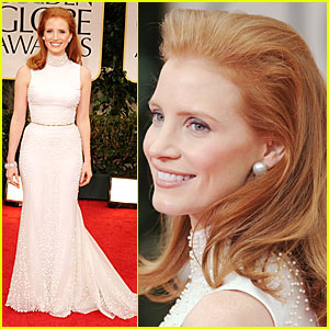Jessica Chastain - Golden Globes 2012 Red Carpet
