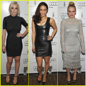 Lindsay Lohan & Paula Patton Celebrate Award Season