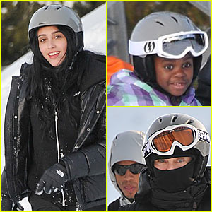 Madonna & Kids: Skiing in Switzerland!
