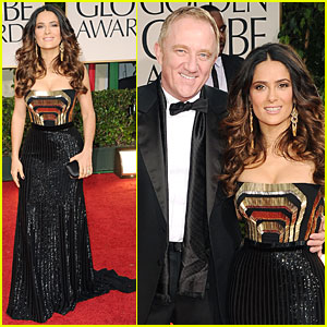 Salma Hayek - Golden Globes 2012 Red Carpet