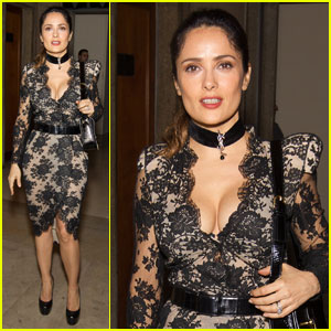 Salma Hayek: Prada 24 Hours Museum Launch!