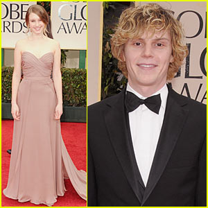Taissa Farmiga - Golden Globes with Evan Peters!