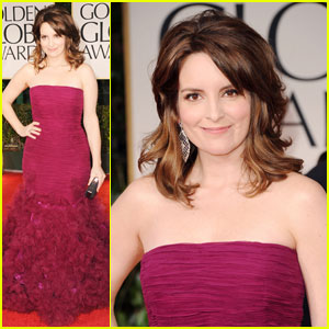 Tina Fey - Golden Globes 2012 Red Carpet