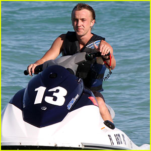 Tom Felton Hits the Waves!