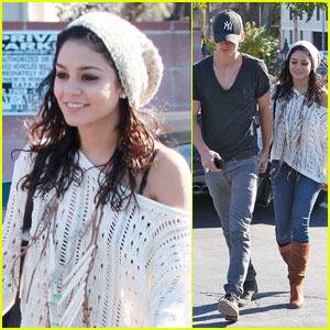Vanessa Hudgens & Austin Butler Head to Hugo's