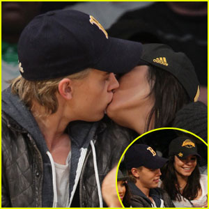 Vanessa Hudgens & Austin Butler Get Kissy at Lakers Game
