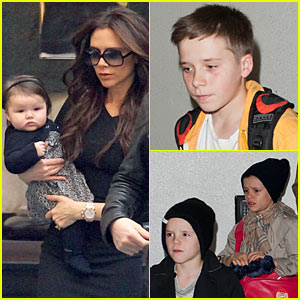 Victoria Beckham: Bread Street Kitchen with Harper!