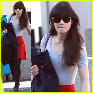 Zooey Deschanel Dances the Day Away