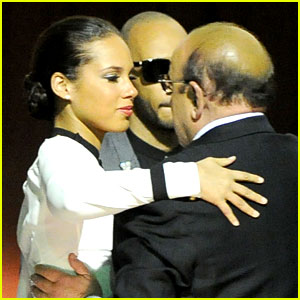 Alicia Keys Consoles Clive Davis After Whitney Houston's Death