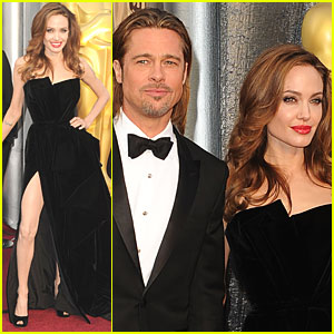 Brad Pitt &#038; Angelina Jolie - Oscars 2012 Red Carpet